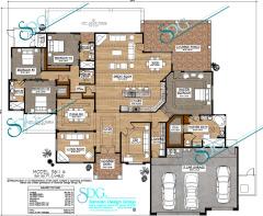 Custom Santa Fe Style Home Plans Plans 3500 To 3599 Sq Ft